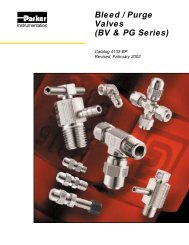 Bleed / Purge Valves (BV & PG Series) - Technical Controls