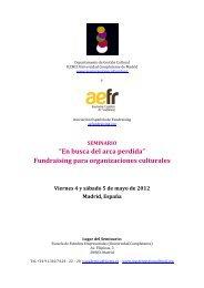 Fundraising para organizaciones culturales - Máster en Gestión ...