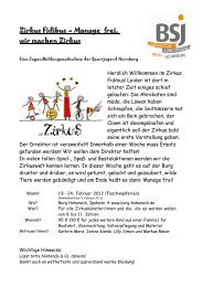 Zirkus Fidibus –Manage frei, wir machen Zirkus - Bayerische ...