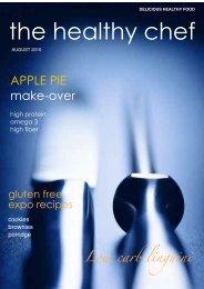 the healthy chef August newsletter - griffin design studio