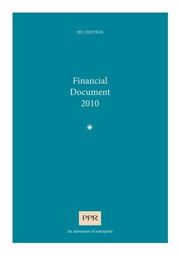 Financial Document 2010 - Jaarverslag.com