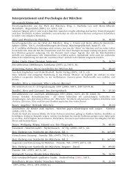 Interpretationen und Psychologie der Märchen - zum bücherwurm