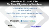 SharePoint 2013 and ECM - File Share Migrations to SharePoint.pdf
