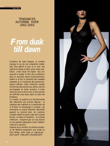 Wolford: Tendance 02/03 - Magazine Sports et Loisirs