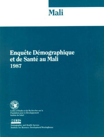 Enquête Démographique et de Santé au Mali 1987 ... - Measure DHS