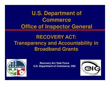 U.S. Department of Commerce Office of Inspector General