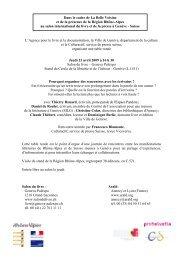 Programme et présentation des intervenants - Arald