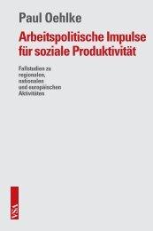 Arbeitspolitische Impulse für soziale Produktivität - VSA Verlag