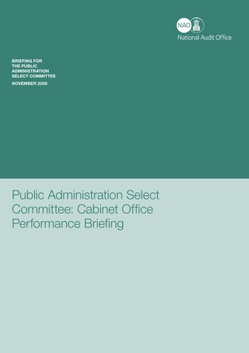 Cabinet Office Performance - National Audit Office