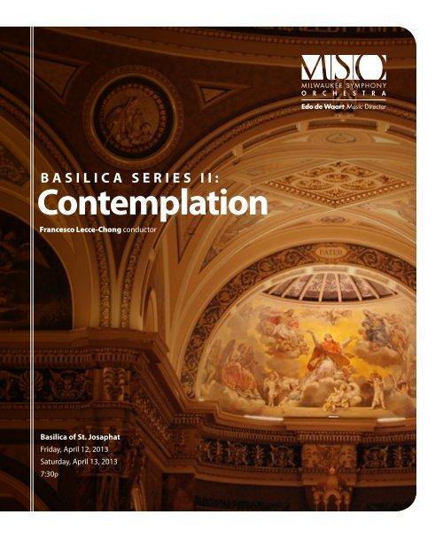 contemplation - Milwaukee Symphony Orchestra