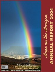Cancer Annual Report 2004 - The Medical Center