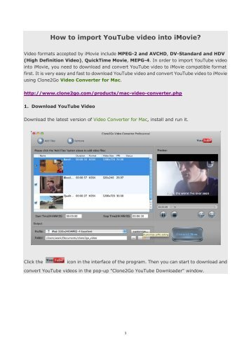 How to put youtube videos into windows movie maker clone2go how to import youtube video into imovie clone2go ccuart Image collections