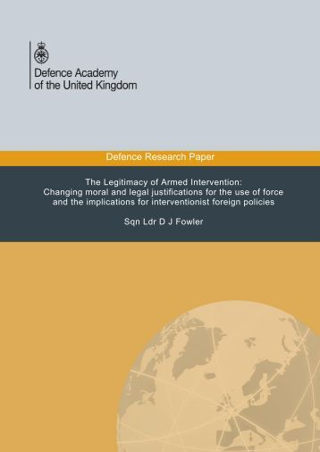 Defence Research Paper - Defence Academy of the United Kingdom