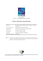 Triana Metadata Specification - GridLab