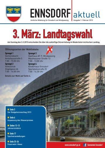 SA, 20. April 2013 - Gemeinde Ennsdorf