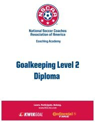 Goalkeeping Level 2 Diploma - National Soccer Coaches ...