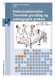 Patientuddannelse - Teoretisk grundlag og pædagogisk praksis