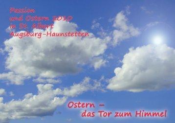 Ostern 2010 - Pfarrei St. Albert Augsburg-Haunstetten