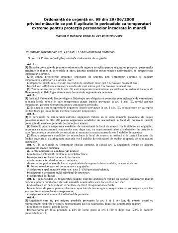Ordonanţă de urgenţă nr. 99 din 29/06/2000 privind măsurile ce pot ...