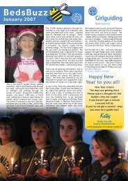 BedsBuzz January 2007 issue - Bedfordshire Guiding