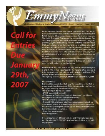Call for Entries Due January 29th, 2007 - National Academy of ...