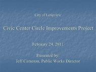 Civic Center Council Presentation