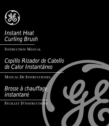 Instant Heat Curling Brush Cepillo Rizador de ... - GE :: Housewares