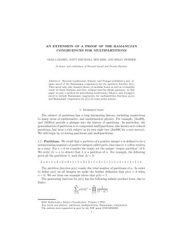 An extension of a proof of the Ramanujan congruences