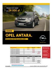 Opel Antara ceny 2012 - Opel Antara cennik 2012 ... - Opel Polska