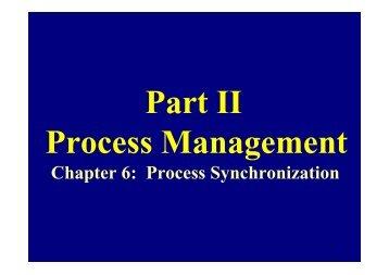 Chapter 6: Process Synchronization - Csl Mtu