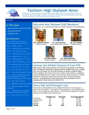 Fairborn High School Newsletter - Fairborn City Schools