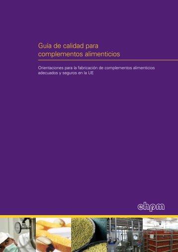 Guía de calidad para complementos alimenticios - Phyto-ESP