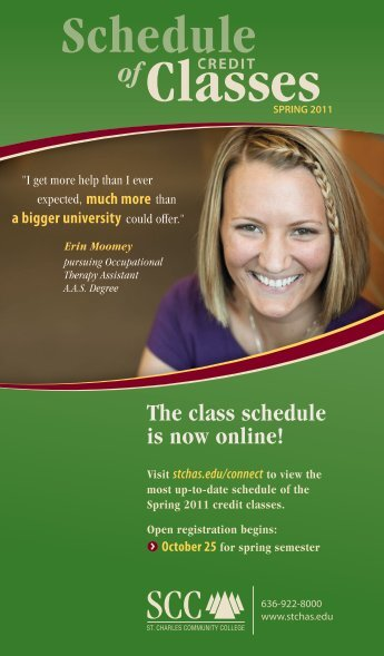 The class schedule is now online! - St. Charles Community College