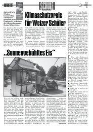 """""""Sonnengekühltes Eis"""" Klimaschutzpreis für Weizer Schüler"""