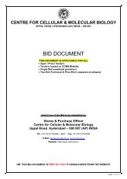 tender document information - CCMB