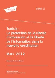 ARTICLE 19 Tunisie constitution FINAL 28 03 2012 FRANCAIS
