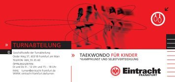 TAEKWONDO FÜR KINDER - Eintracht Frankfurt eV