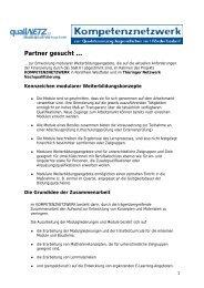 Partner gesucht … - QualiNetz - Beratung und Forschung GmbH