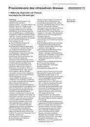 Praxisrelevanz des nitrosativen Stresses - Heck Bio-Pharma GmbH