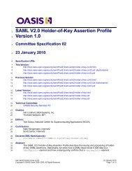 SAML V2.0 Holder-of-Key Assertion Profile Version 1.0 - docs oasis ...