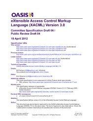 (XACML) Version 3.0 - OASIS Open Library