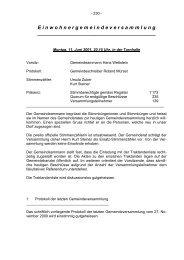Protokoll Gemeindeversammlung 11.06.2001