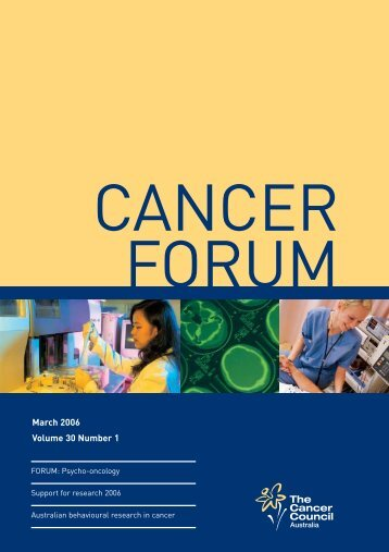 2746 Cancer Forum March06 cover