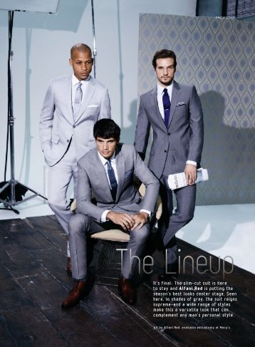 It's final: The slim–cut suit is here to stay and ... - GQ Design Group