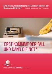 Programm als pdf-Datei - Landesverband der Hebammen NRW