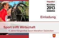 Sport trifft Wirtschaft Einladung - Salzkotten Marathon