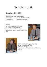 Schuljahr 2008/09 - Polytechnische Schule Wildon