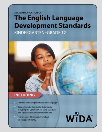 the English language Development Standards - Public Schools of ...