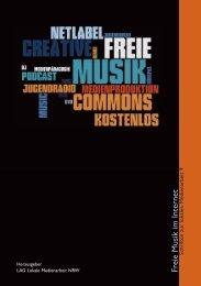 Broschüre Freie Musik im Internet