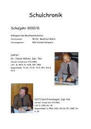 Schuljahr 2010/11 - Polytechnische Schule Wildon